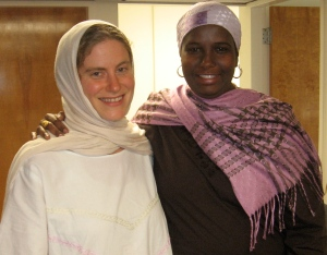 Clara Sarr and Maryann Mohamoud